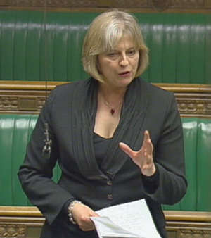 Theresa May MP in the House
