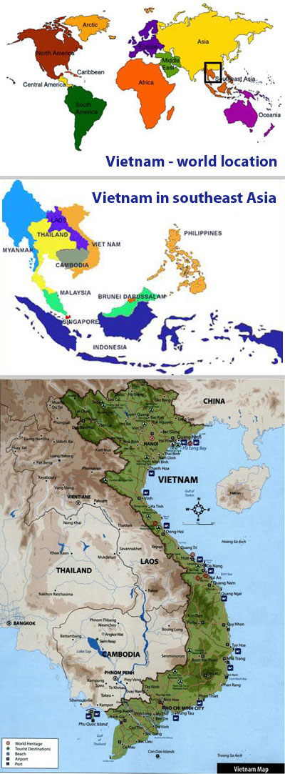 Viet Nam - world location